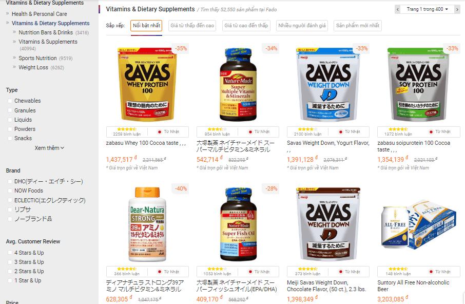 Thực phẩm chức năng của Nhật