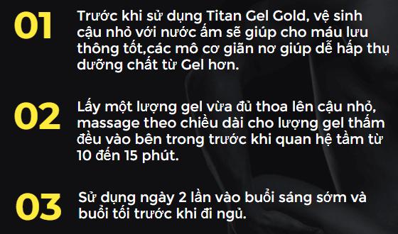 tác dụng của titan gel gold