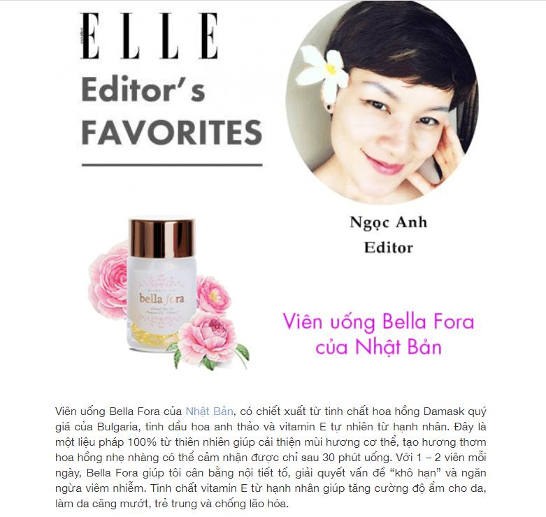 Tác dụng của viên uống hồng hương Bella Fora