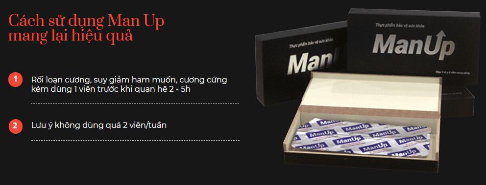 cách dùng manup