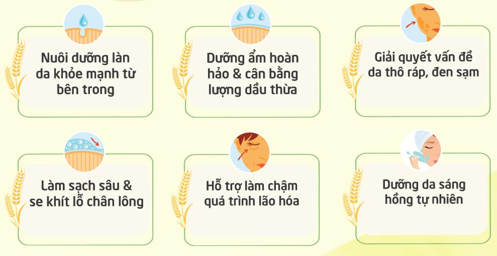 Công dụng của Dưỡng da cám gạo YUMEPIRIKA