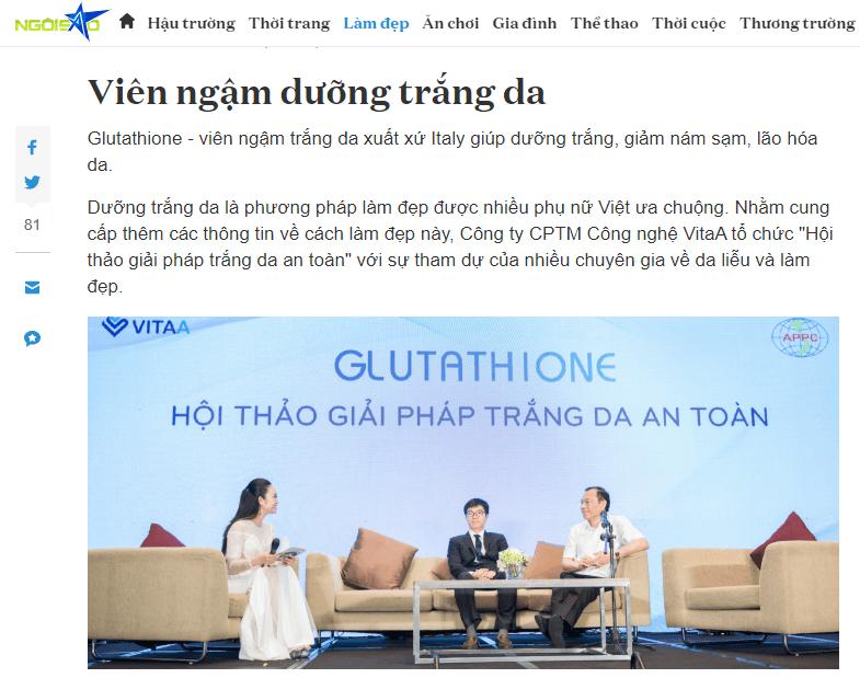 Review Viên Ngậm Trắng Da Glutathione