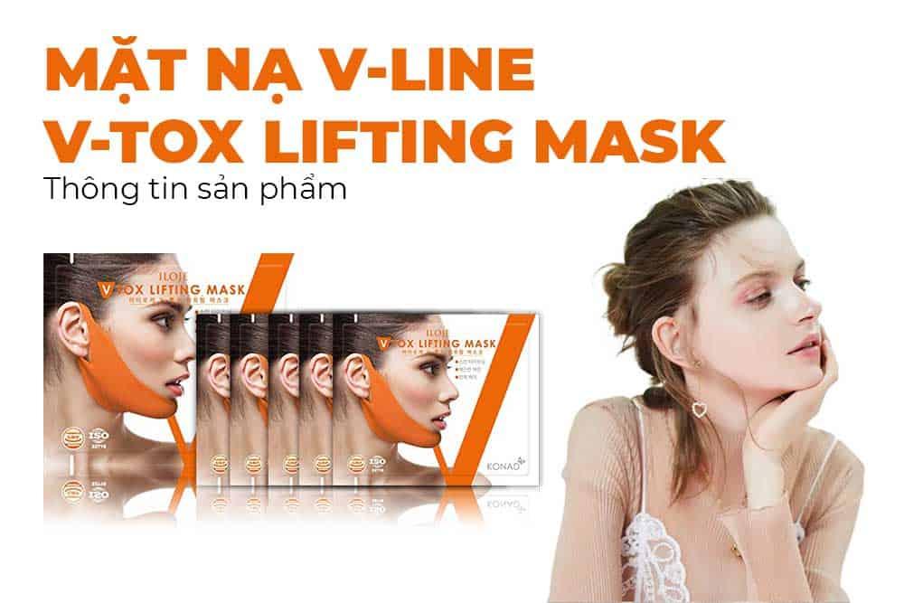 Review mặt nạ tạo cằm V-line Konad Vtox Lifting Mash có tốt không, công dụng và hiệu quả của SP ra sao, giá bao nhiêu, mua ở đâu chính hãng…