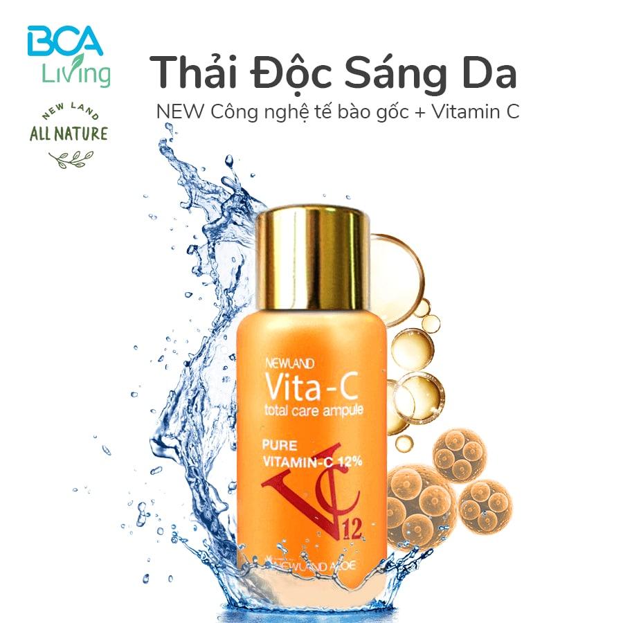 Review serum Vita C Total Care Ampule (Vita C tươi Hàn Quốc)-Newland All Nature, công dụng của SP thế nào, có tốt không, giá bao nhiêu, mua ở đâu chính hãng