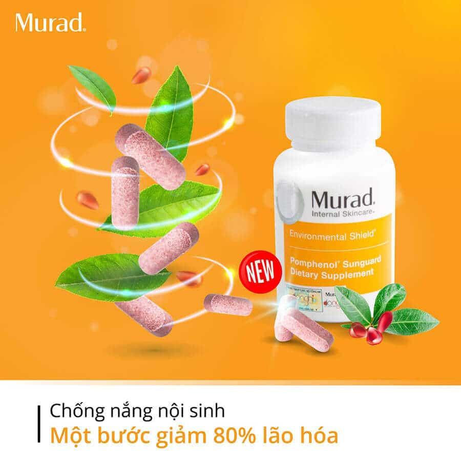 Bài review xem viên uống chống nắng nội sinh Murad có tốt và hiệu quả không, công dụng của sản phẩm thế nào, giá bao nhiêu, mua ở đâu chính hãng…
