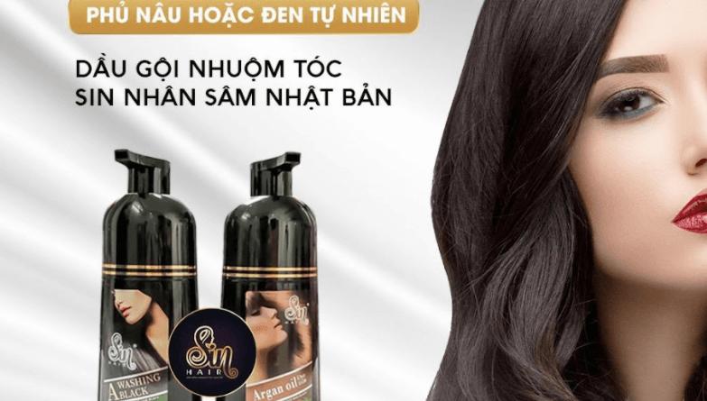 Sin Hair Dầu gội phủ bạc nhân sâm số 1 Nhật Bản mua ở đâu