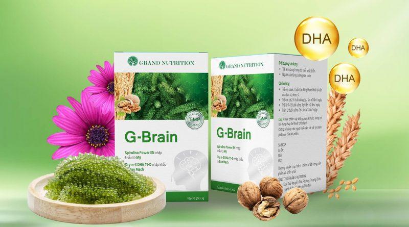 G-Brain - Cốm Trí Não Đầu Tiên Giúp Trẻ Tập Trung Cao Độ [GIẢM GIÁ 33%]