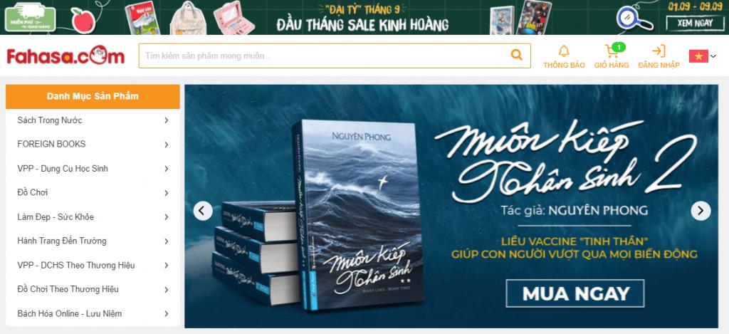 Website Fahasa Online